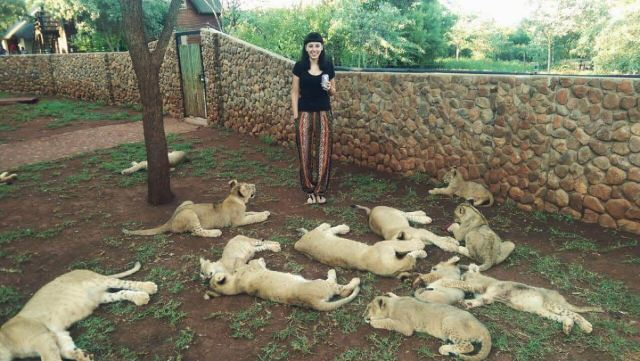 Claws Out Beth Jennings at lion breeding facility
