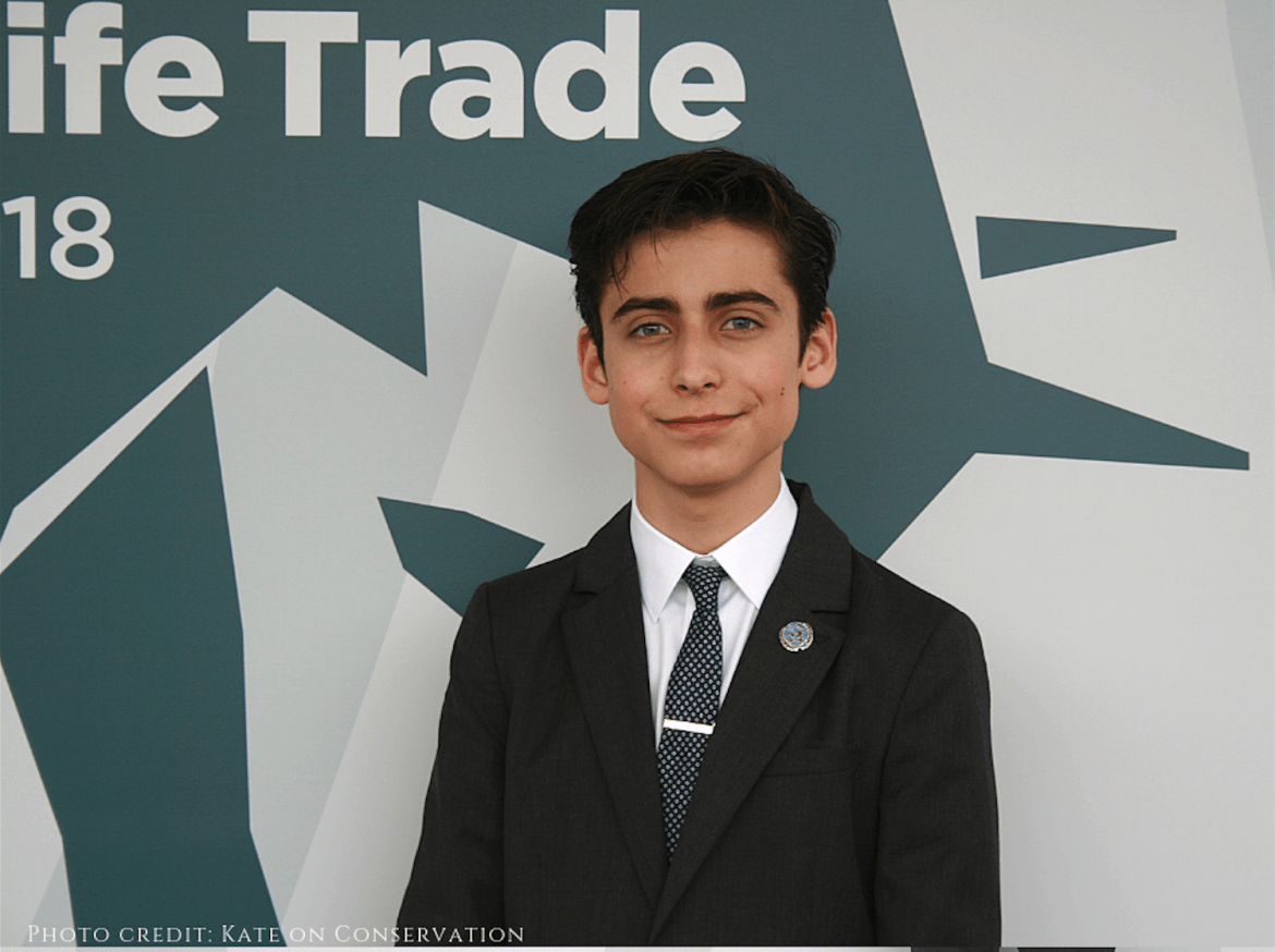 Aidan Gallagher on the Illegal Wildlife Trade and saving the oceans