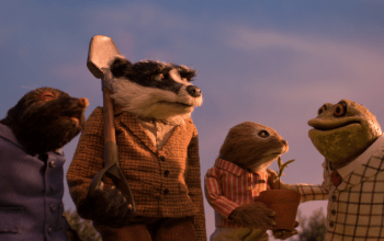 Mole, Badger, Ratty and Toad from The Wildlife Trust's Wind in the Willows