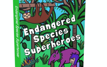 Endangered species superheroes cover image