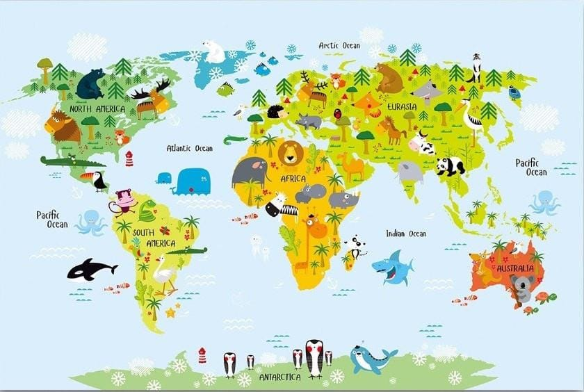 animals-around-the-world-map