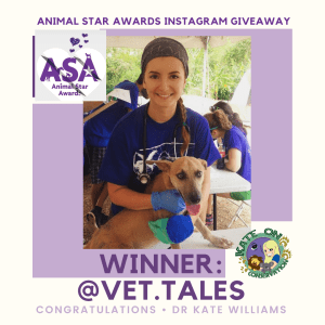 Kate on conservation animal star awards giveaway
