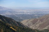 View of Salt Lake City and the Great Salt Lake from top of Thaynes Peak