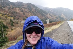 Finishing up with a walk in the rain, almost home to Snowbird.