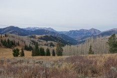 Looking back down American Fork Canyon