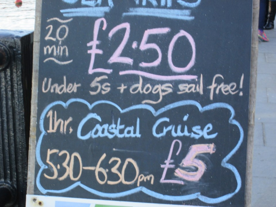 Boat trip prices