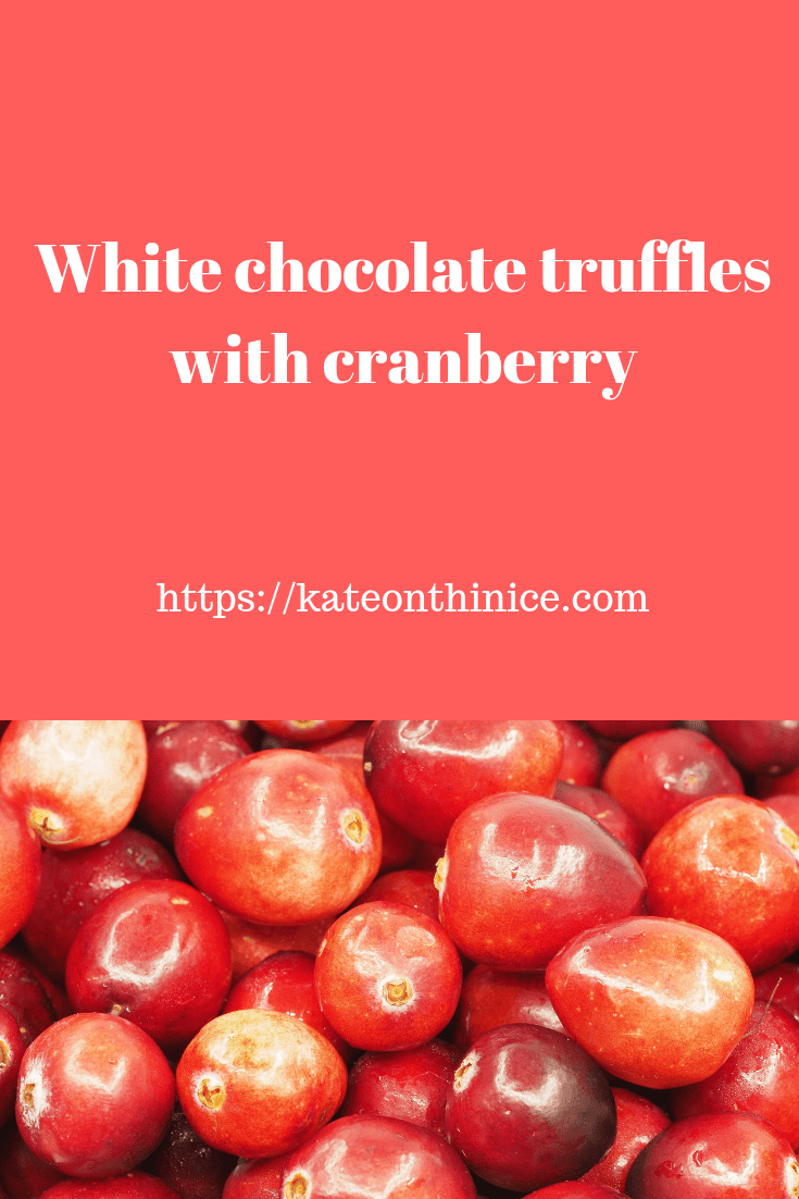 White Chocolate Truffles with Cranberry