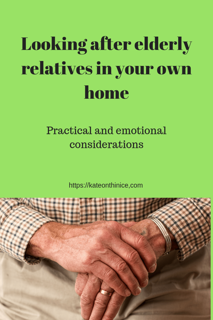 Looking After Elderly Relatives In Your Own Home