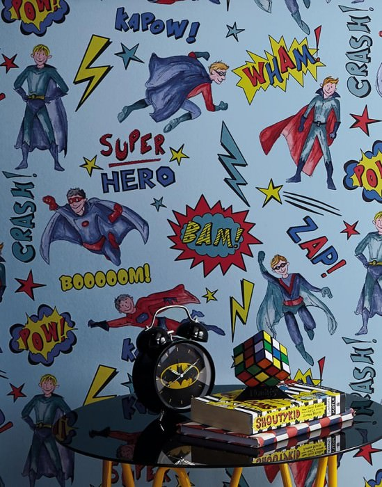 Superhero Blue Wallpaper