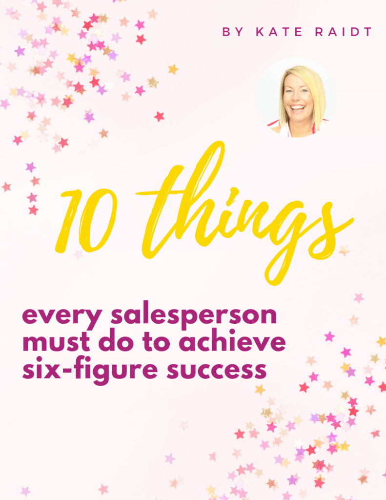 Kate Raidt eBook 10 things every salesperson must do