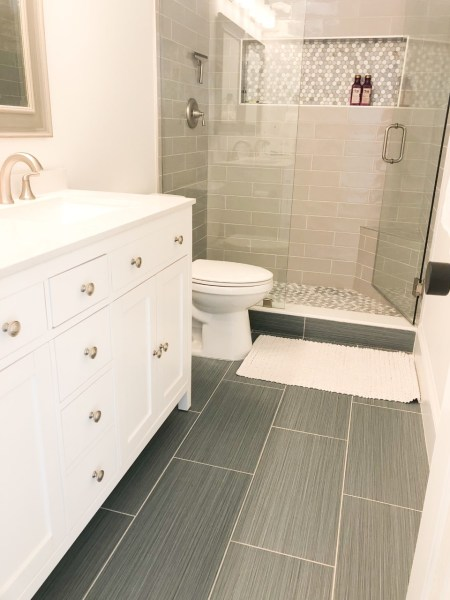 before after photo bathroom renovation