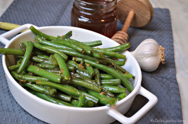 Honey Garlic Green Beans 1