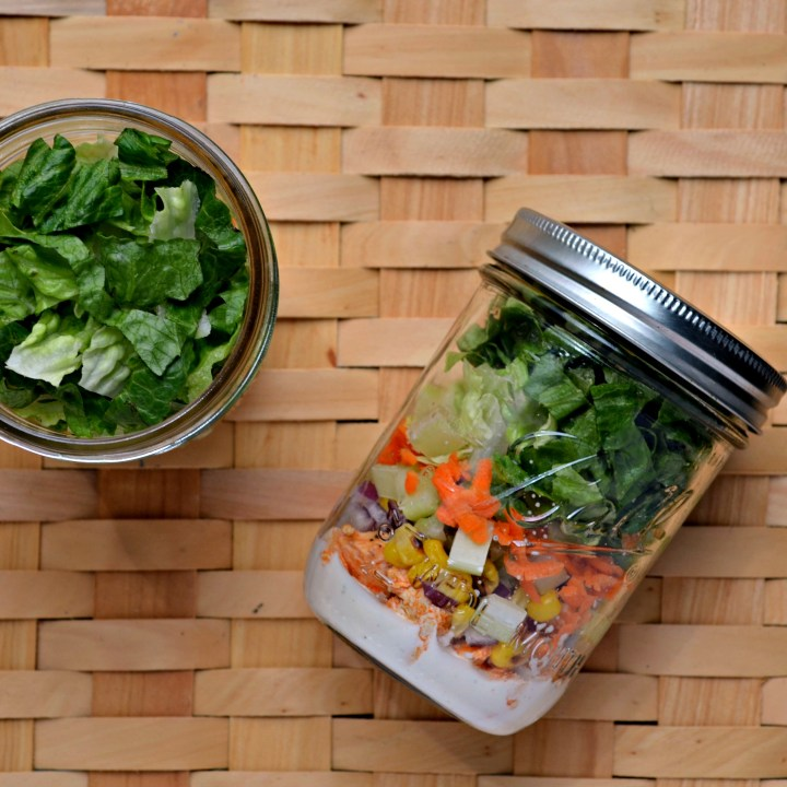 Buffalo Chicken Salad Jars