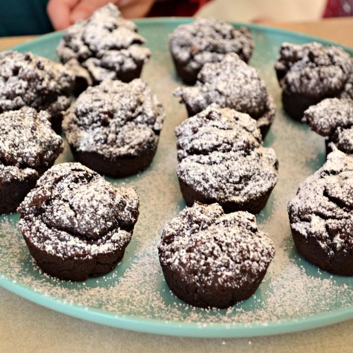 Chocolate Pumpkin Blender Muffins