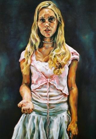 Archaic Portrait (Anasaskia), 2006, oil on linen
