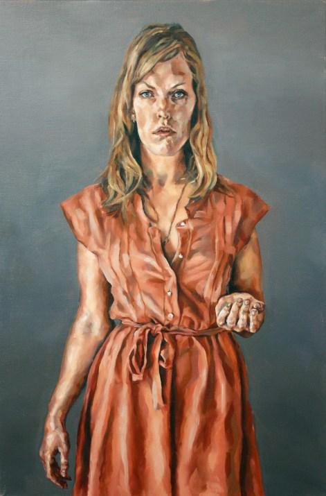 Archaic Portrait (Clare), 2008, oil on linen