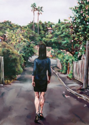 Woman Walking Away, 2008, oil on linen