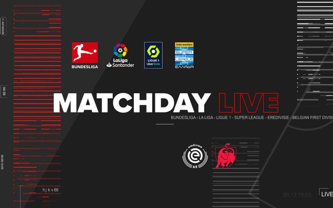 Matchday Live με τον Αποστόλη Λάμπο και λεπτό προς λεπτό δράση από τα γήπεδα αποκλειστικά στο Novasports