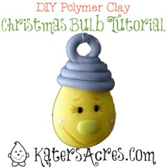 DIY Polymer Clay Christmas Bulb by KatersAcres
