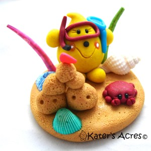 Beach Sandcastle Parker© StoryBook Scene by Kater's Acres®