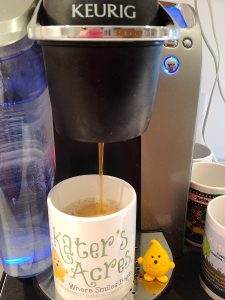 My Studio Keurig Coffee Pot with Parker by KatersAcres
