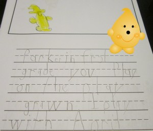 Parker Goes to School on Kater's Acres Blog
