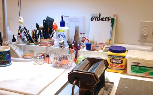 KatersAcres Polymer Clay Studio Working Area
