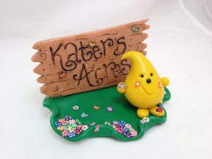NEW Kater's Acres Business Card Holder Made from Polymer Clay