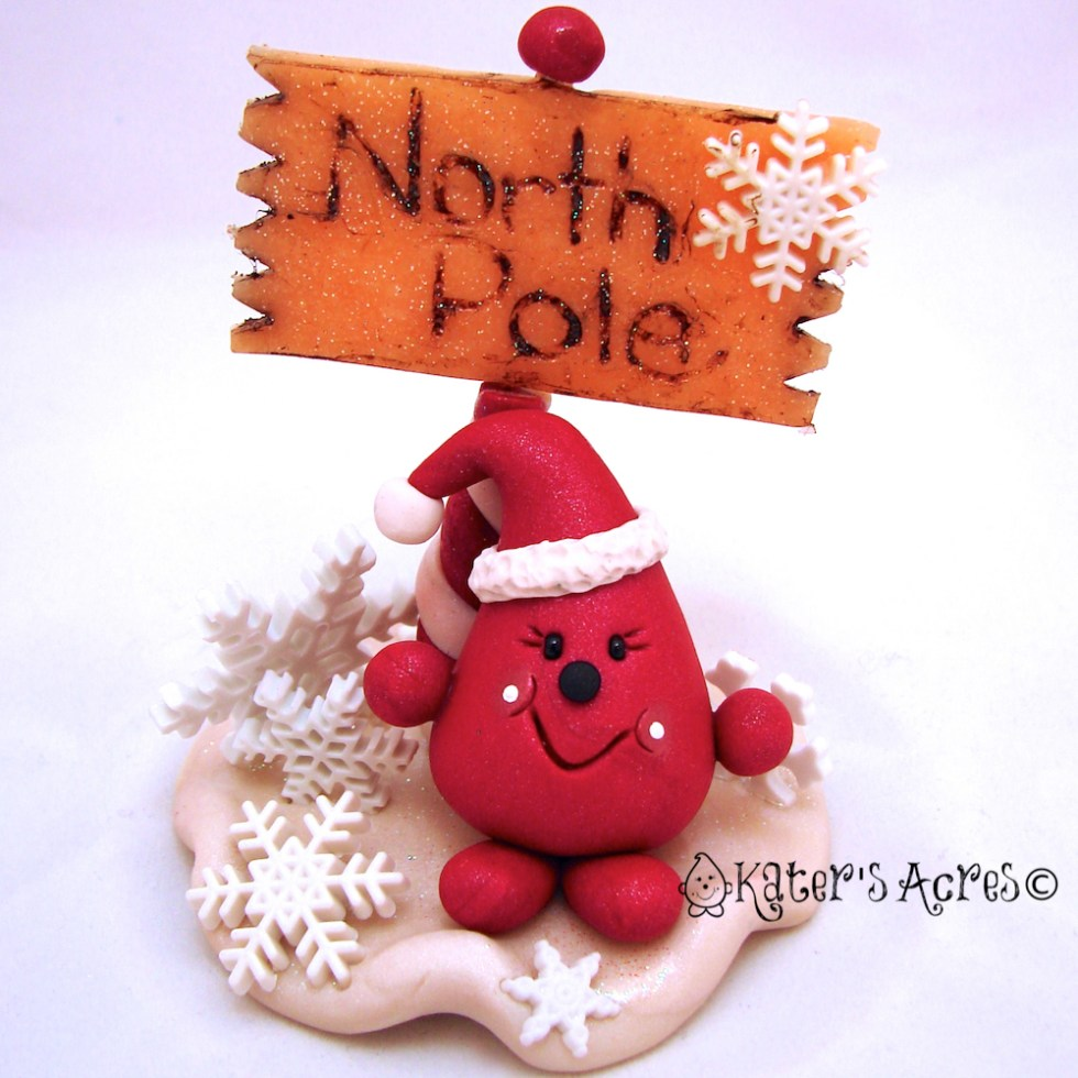 Santa Parker at the North Pole - Twelve Days of Christmas Figurine 12 Preview on Kater's Acres Blog