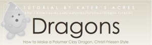 Polymer Clay Dragons Tutorial eBook Cover by KatersAcres