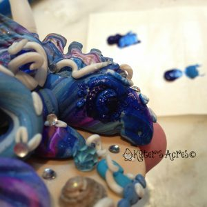 How to Give a Finished Polymer Clay Piece an Antique Finish on Kater's Acres Blog https://katersacres.com