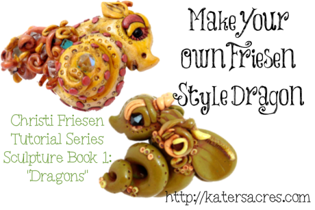 Make Your Own Christi Friesen Style Dragon Tutorial on Kater's Acres Polymer Clay Blog https://katersacres.com