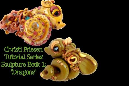 Make Your Own Christi Friesen Style Dragon Tutorial on Kater's Acres Polymer Clay Blog https://katersacres.com
