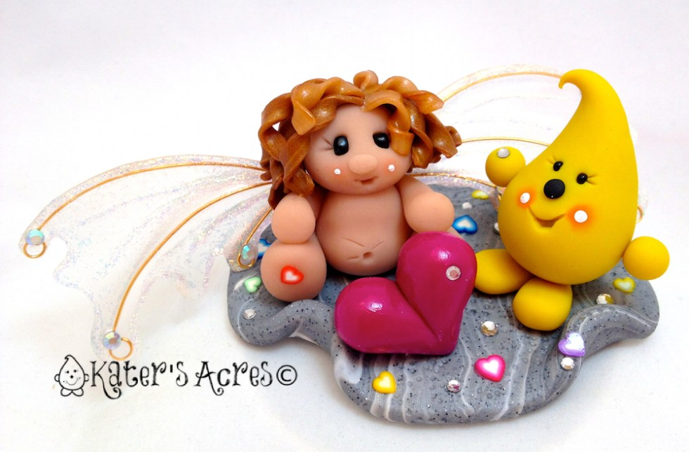Limited Edition Polymer Clay Sculpture Release - Parker Finds the Love Fairy on KatersAcres Blog https://katersacres.com