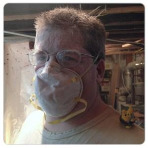 KatersAcres Polymer Clay Studio Remodeling - Drywall Sanding