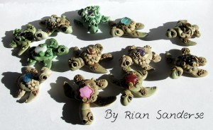 Polymer Clay Christi Friesen Style Turtle Showcase - Design by Rian Sanderse on KatersAcres Blog