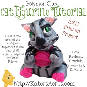 Polymer Clay Cat Figurine Tutorial by KatersAcres for the Friesen Project