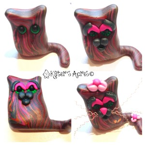Lump Cat Figurine Tutorial Facial Features by KatersAcres