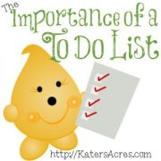 "The Importance of a To Do List on the ""Build Your Brand"" Series by KatersAcres"