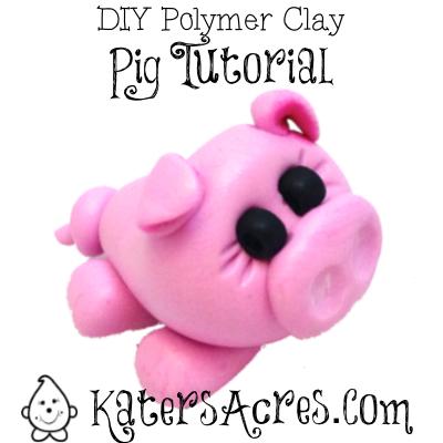 DIY Polymer Clay Pig Figurine