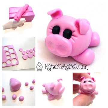 How to Make a Polymer Clay Pig Tutorial by KatersAcres
