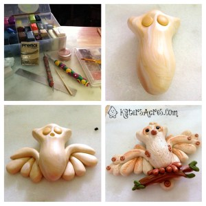 Polymer Clay Owl Assembly by KatersAcres