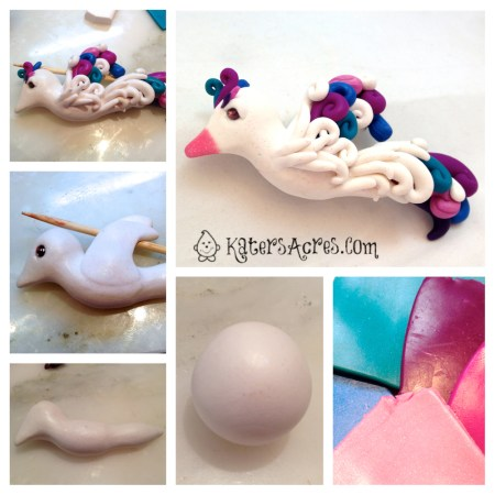 Fancy Bird Tutorial for the Friesen Project by KatersAcres | For Polymer Clay, Sugar Paste, Gum Paste, Modeling Clay, & Much More