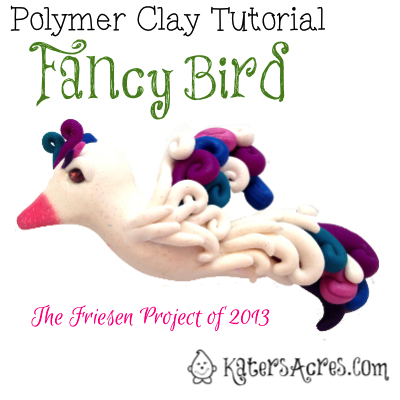 Fancy Bird Tutorial by KatersAcres | For Polymer Clay, Sugar Paste, Gum Paste, Modeling Clay, & Much More
