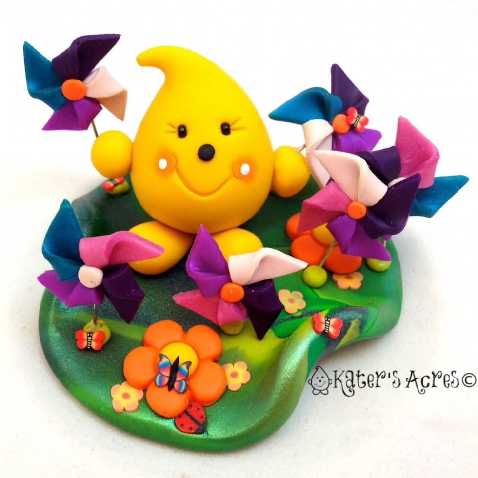 Pinwheel Parker Fields StoryBook Scene by KatersAcres | Handmade OOAK polymer clay character figurines