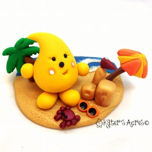Beach Parker StoryBook Scene Figurine by KatersAcres | Summer Collection 2013