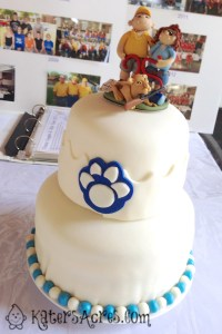 Custom Order Cake Topper for a 25 Year Rifle Team Captain Celebration by KatersAcres   Cake by A Flexible Life's, Jennifer