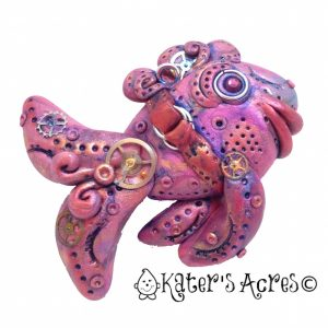 Polymer Clay Steampunk Fish by KatersAcres