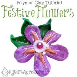 Festive Flowers Tutorial by KatersAcres