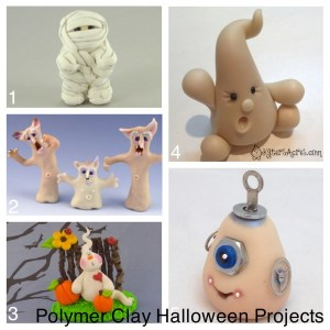 DIY Halloween Projects with Glow in the Dark Polymer Clay by KatersAcres